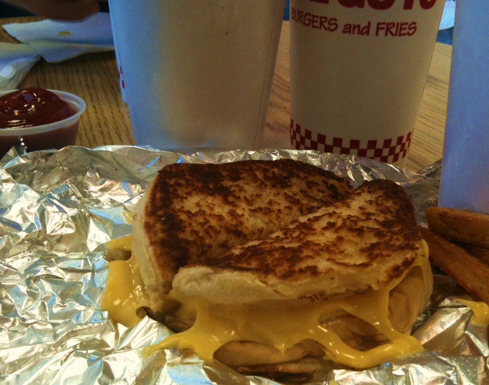 Grilled Cheese at Five Guys.