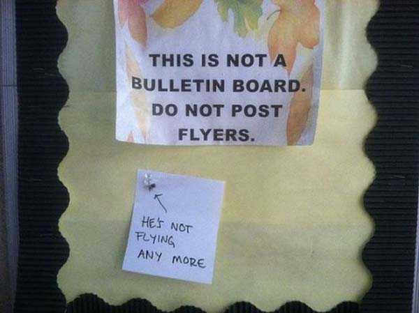 28fucking Bulletin boards will not be wasted.