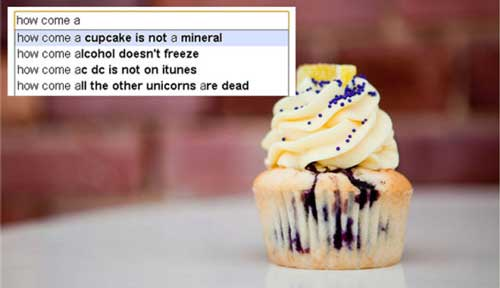 google search suggestions cupcake