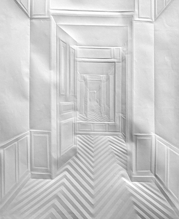 No Pens or Paint: Pictures Created Only by Folded Papers!