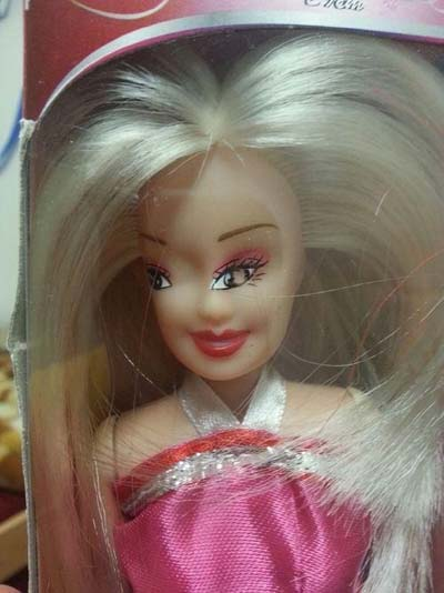 Unrealistic expectation of beauty barbie