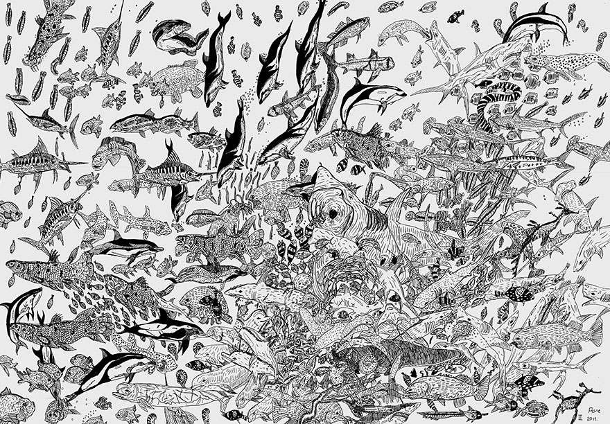 A Child Prodigy Aged 11 Creates Mind-Blowing Drawings