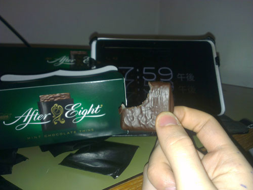 I do what I want after eight mints