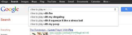 google search suggestions play