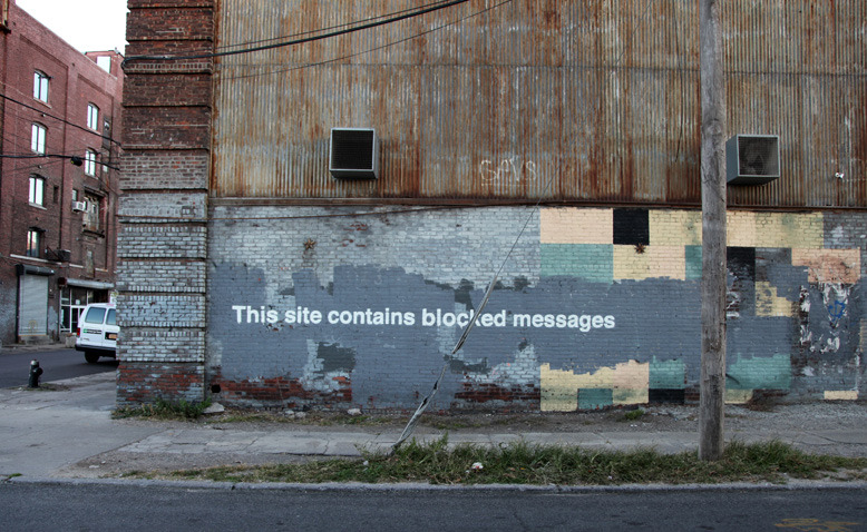 By Banksy - This site contains blocked messages. In Greenpoint, New York, USA 2