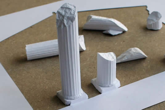 Sculptures Made out of One Sheet of Paper!