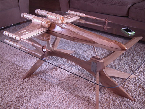 coffee table x wing