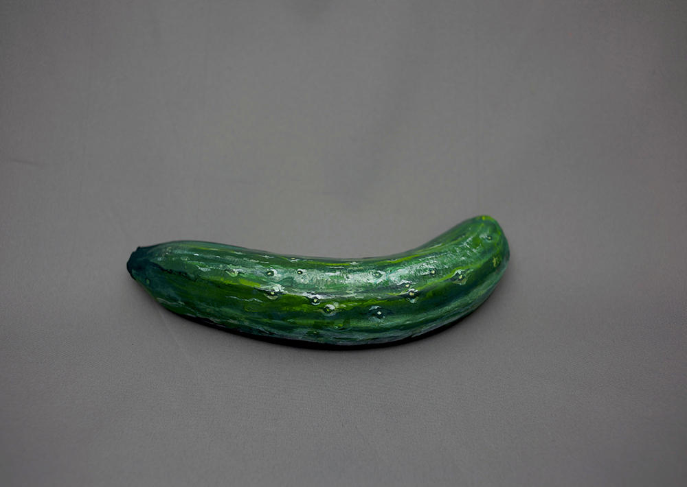Artist Paints Common Foods to Disguise them as Other Foods vegetables painting optical illusion fruit food