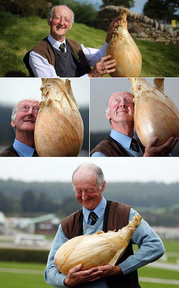 3.) This man, who is so proud of his onion.