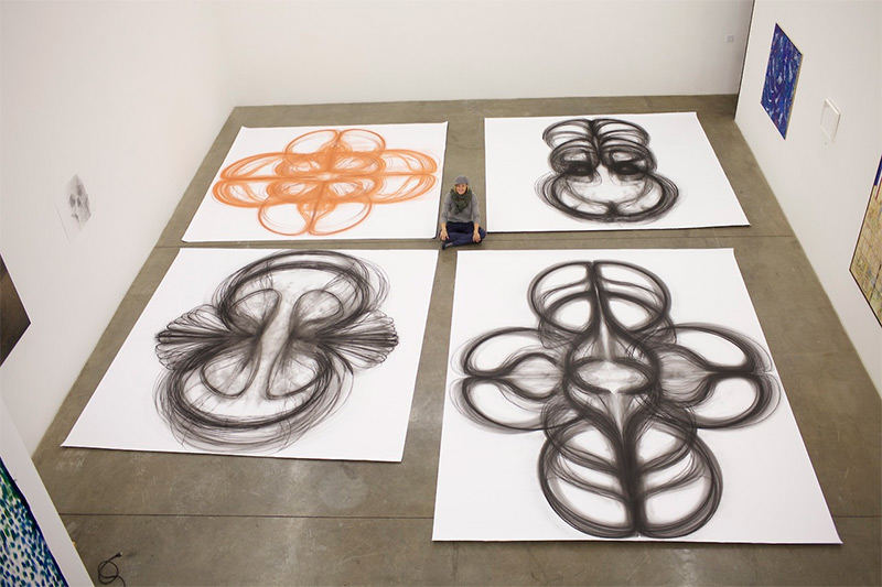 Artist's Emptied Gestures Creates Amazing Beautiful Charcoal Drawings