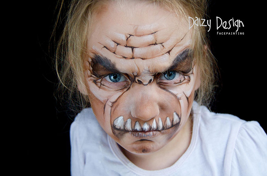 New Zealand-based Artist Painting On Her Kids' Faces, Turning Them Into Fantasy Creatures