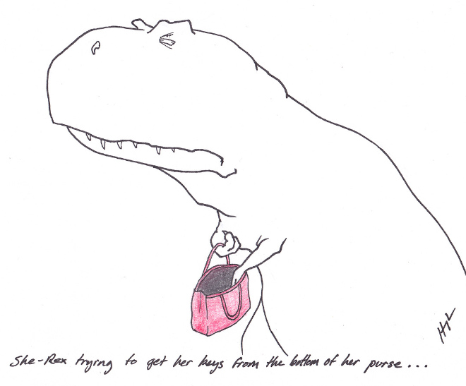 Poor T-Rex's Misery Life. Sometimes It's Just Hard to be a Wizard King.