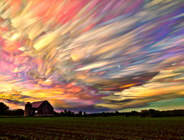 Smeared Skies Created by Time-lapse Technique (1)