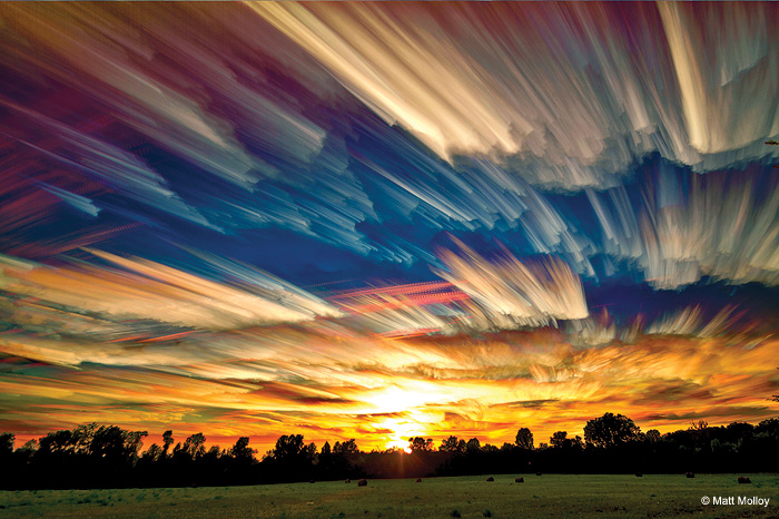 Smeared Skies Created by Time-lapse Technique (3)