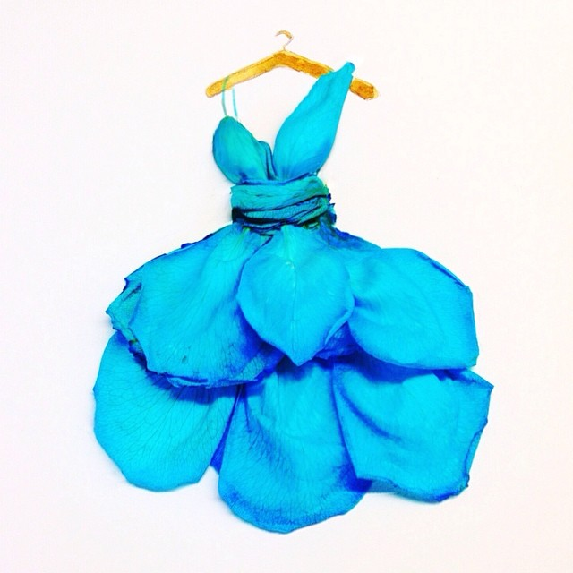 Stunning Fashion Designs Sketched by Real Flower Petals (16)