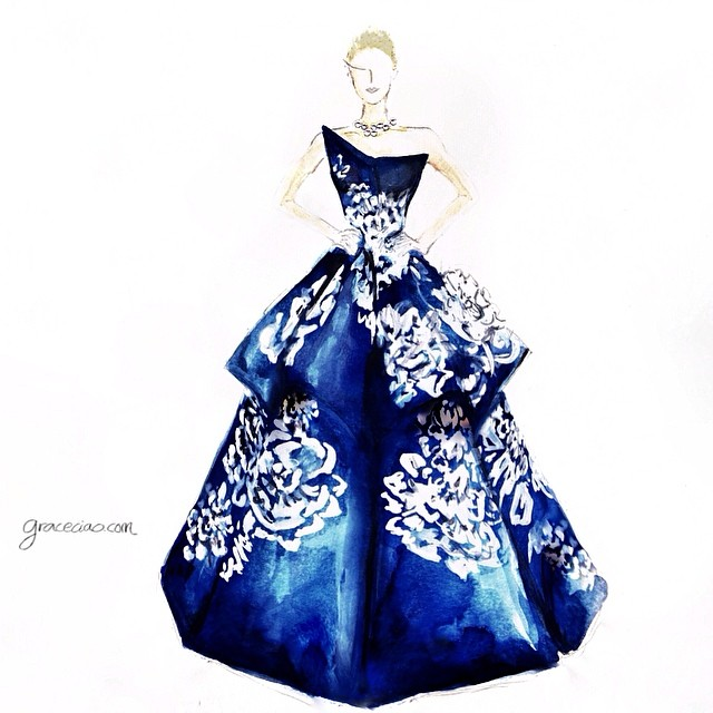 Stunning Fashion Designs Sketched by Real Flower Petals (2)
