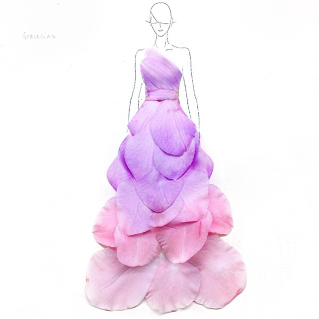 Stunning Fashion Designs Sketched by Real Flower Petals (33)