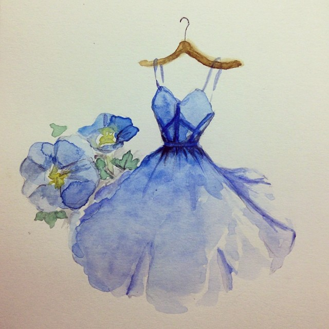Stunning Fashion Designs Sketched by Real Flower Petals (37)