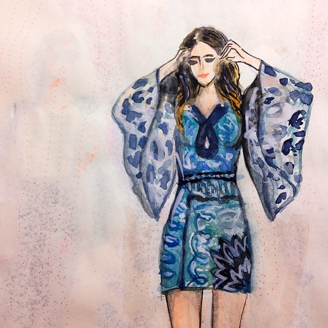 Stunning Fashion Designs Sketched by Real Flower Petals (7)