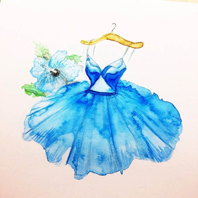 Stunning Fashion Designs Sketched by Real Flower Petals (8)