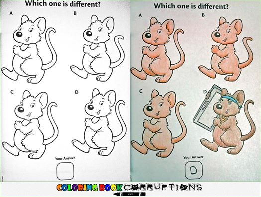 Utterly Twisted Colored Book Corruptions (1)