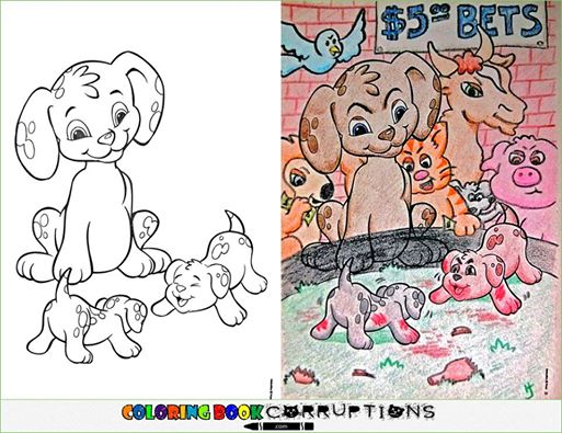 Utterly Twisted Colored Book Corruptions (8)