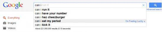 google search suggestions period