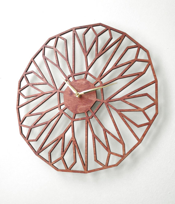 Sarah Mimo Makes Some Great Wooden Clocks With Lasers