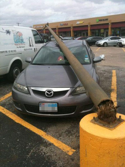 funny dammit momements car pole