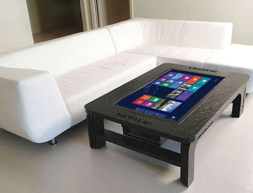 table looks like a tablet with a terrible os