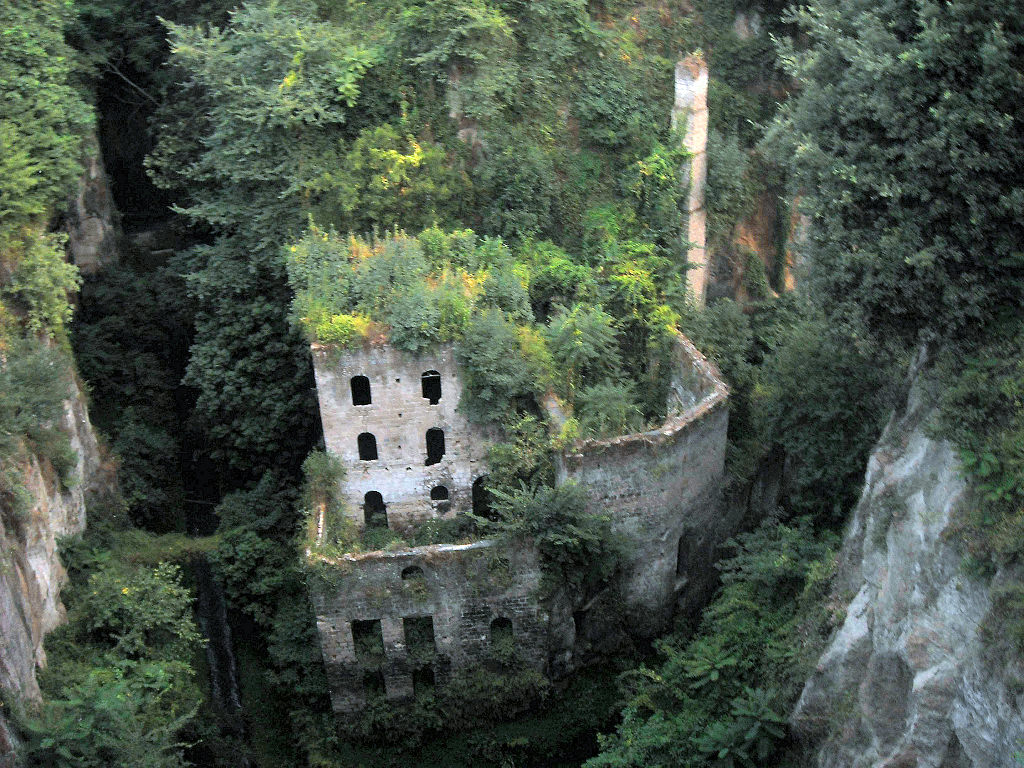 Abandoned mill from 1866 in Sorrento, Italy #2