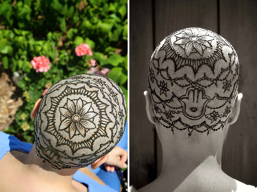 Beautiful Henna Tattoo Crowns Help Cancer And Alopecia Victims Cope With Their Hair Loss