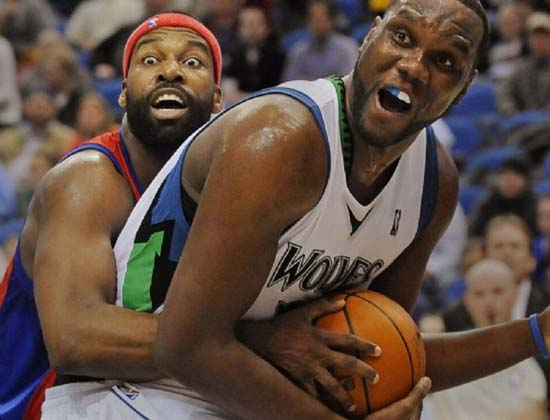 Funny Faces Of Basketball Players Fighting