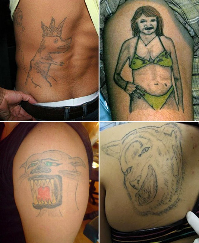 Tattoos Again! But This Time They Are Sad And Useless!