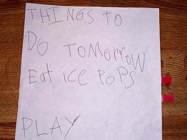 9.) This epic to-do list.