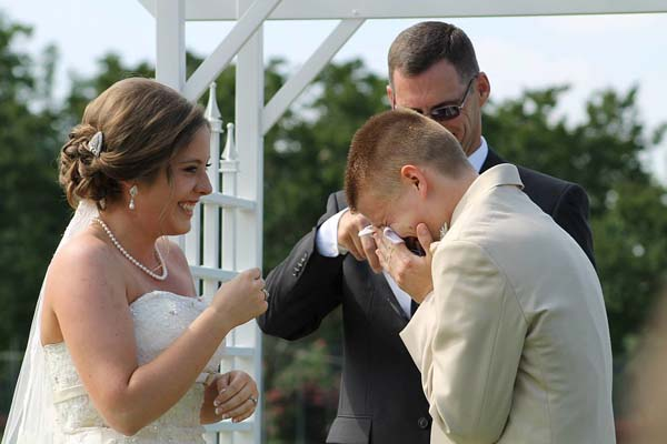17.) This happy, overwhelmed groom.