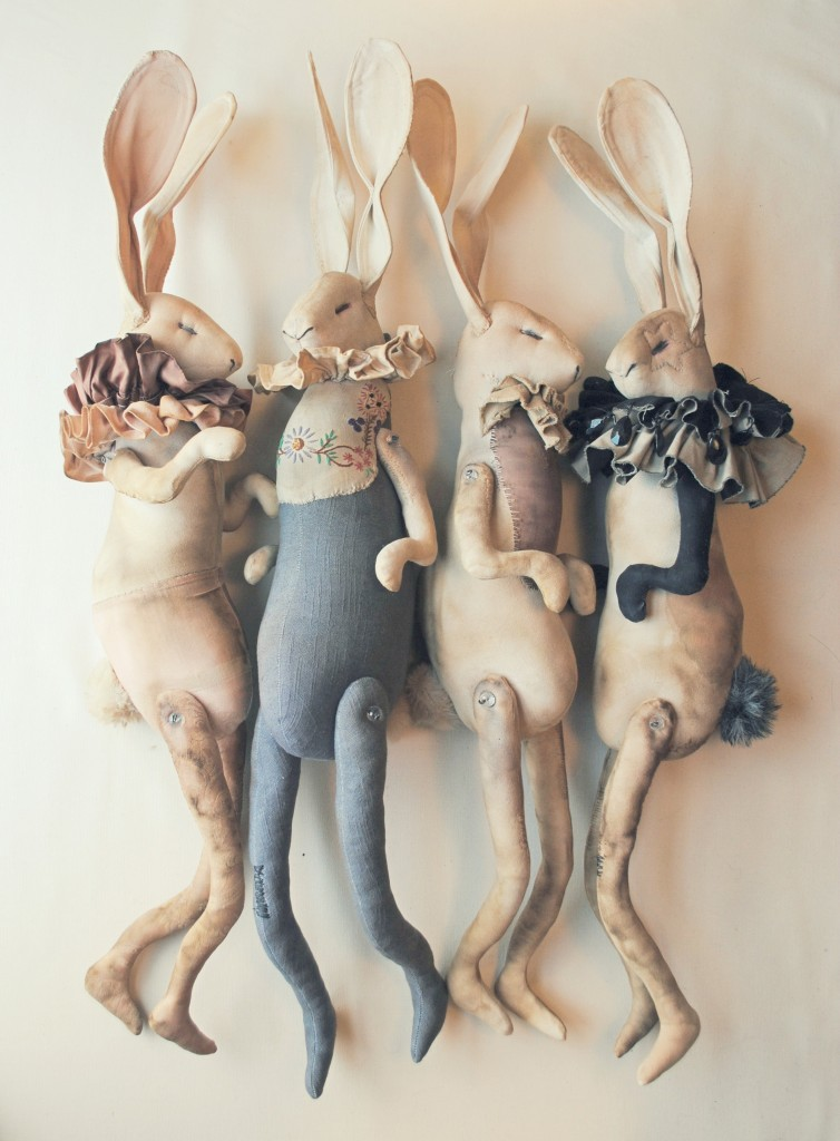 Hare Dolls Made With Vintage Cottons