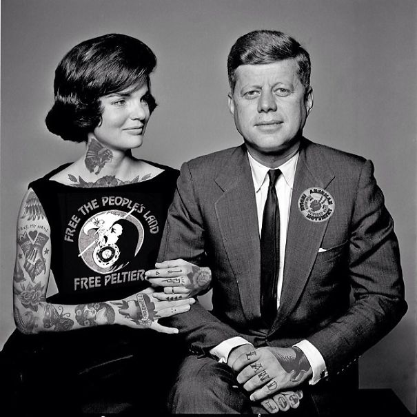 John F. Kennedy and his wife Jacqueline