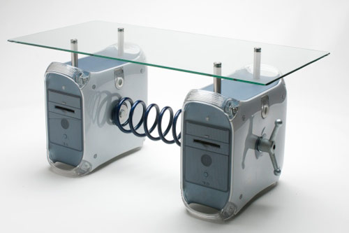 old mac units as table legs