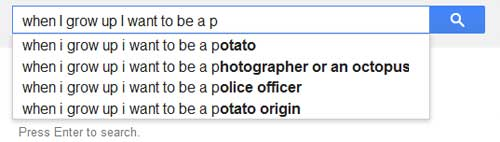 google search suggestions want to be a potato