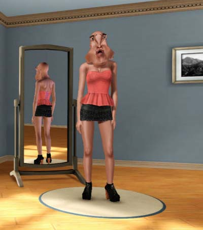 Unrealistic expectation of beauty sims