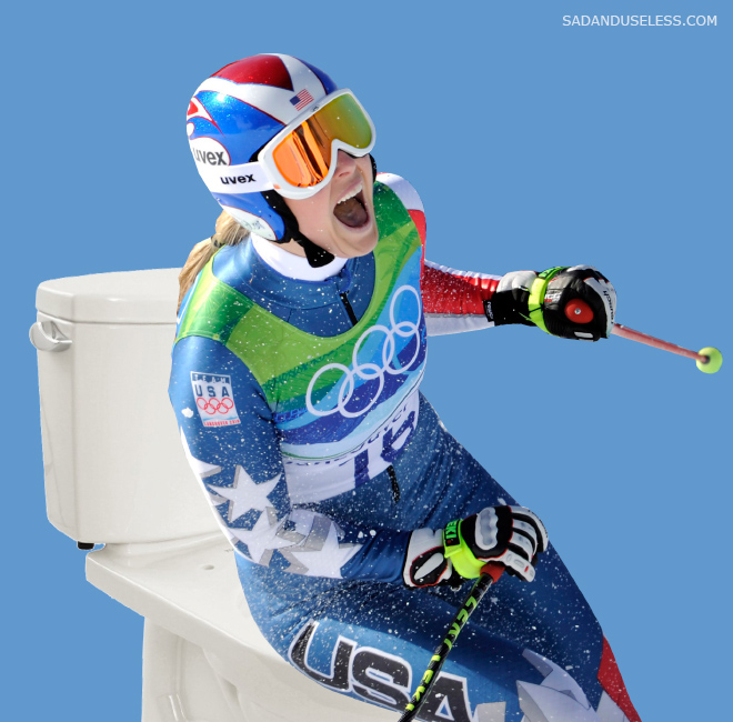 Olympic Skiers on the Toilets: Hey It's Just Photographed