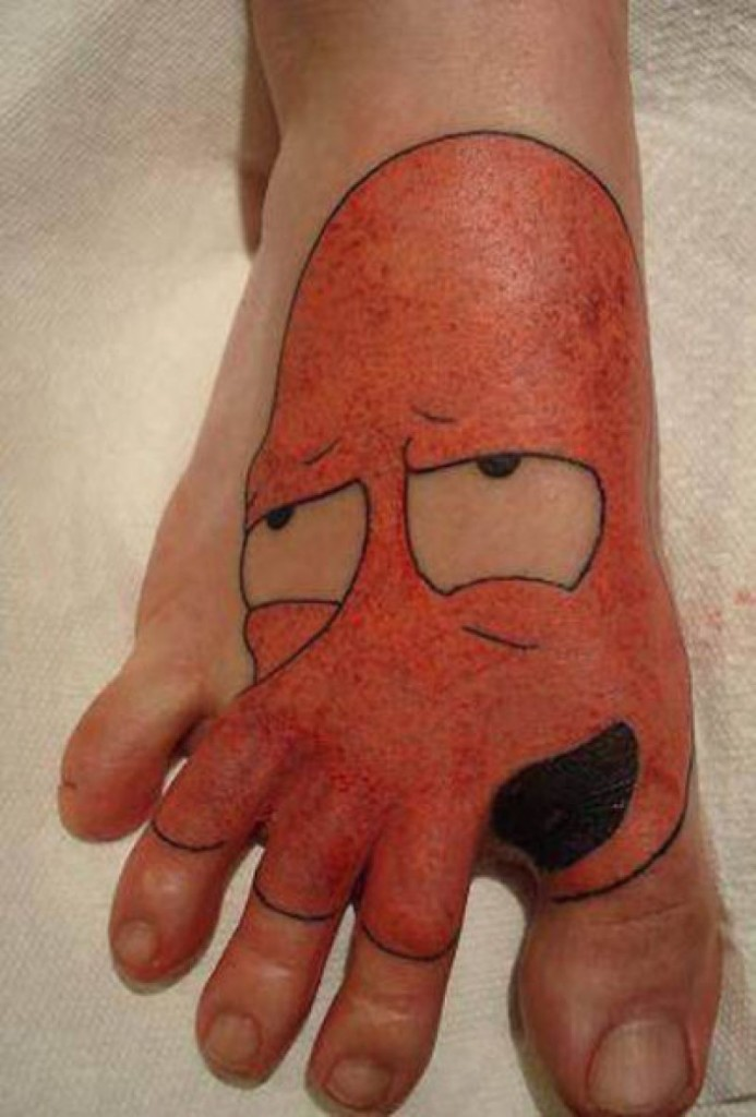 16 Wackiest Foot Tattoos in the World - Thedailytop.com