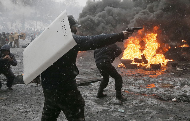 pictures from the protest in Ukraine