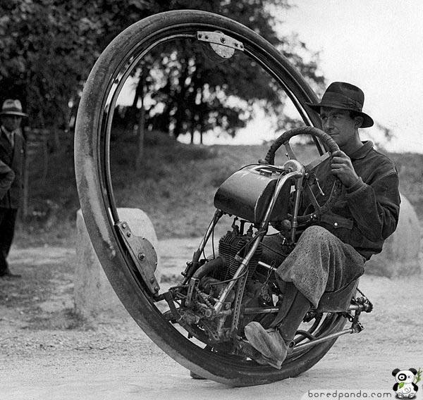 17. The One Wheel Motorcycle, which could reach a top speed of 93 mph (1931).