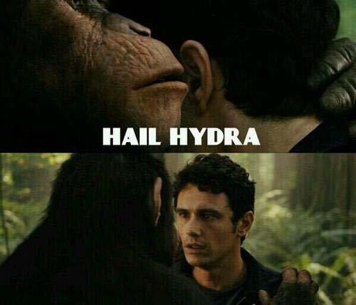 hail hydra meme planet of the apes