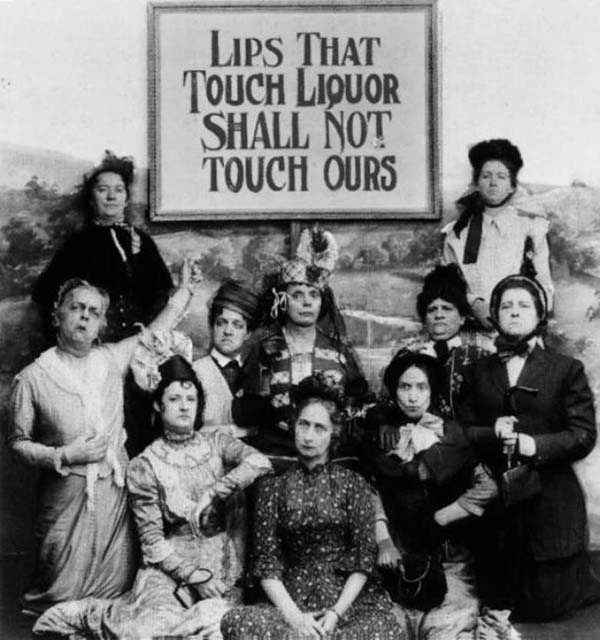 6. A prohibition and anti-saloon league sign, speaking out against liquor.