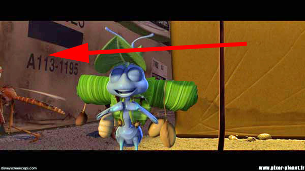 Unsurprisingly, it's appeared in every film produced by Pixar, including here in A Bug's Life .