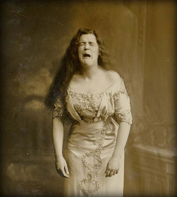2. A portrait taken of a woman while she was mid-sneeze (1900).