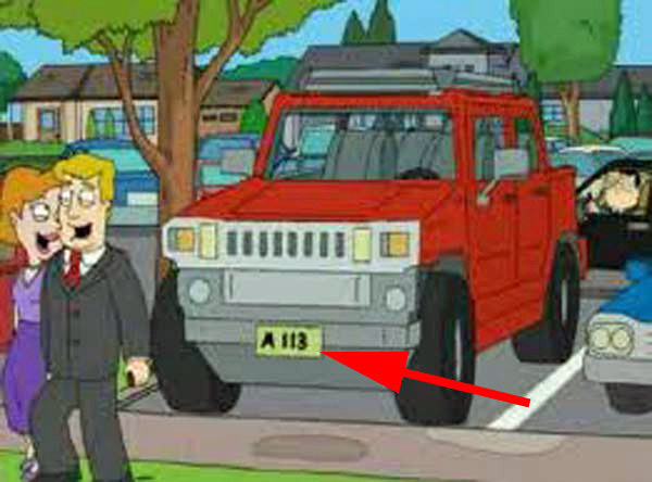 """TV show animators have even smuggled """"A113"""" into episodes of American Dad ."""